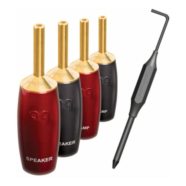 AUDIOQUEST-fiches-bananes-fourches-507-SERIES-GOLD-Toponil