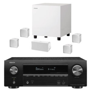 JAMO / DENON – Pack A102 HCS6 BLANC (Expo) + Amplificateur AVR-X1600H DAB (Stock B)