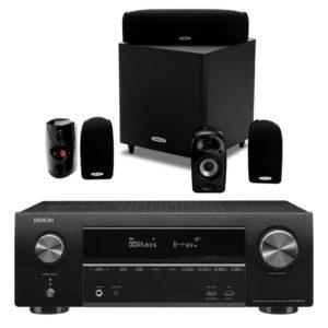 POLK AUDIO / DENON – Pack home-cinéma 5.1 Polk TL1600 (Stock B) + Amplificateur AVR-X1600H DAB (Stock B)